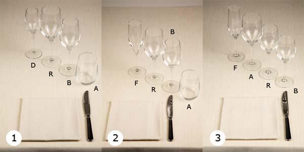 Disposizione Posate A Tavola.B5 2 6 Come Si Dispongono I Bicchieri Salabar It