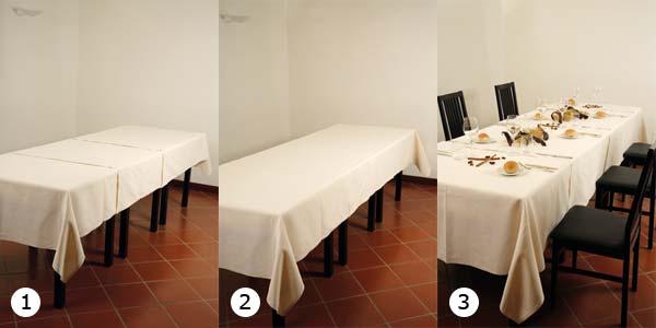 B4 1 4 tovaglie su tavoli lunghi for Tavoli lunghi